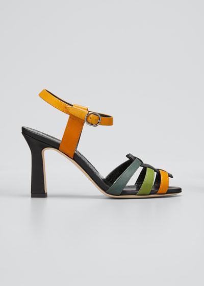 Congola Colorblock Leather Sandals