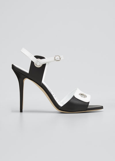 Kuka Bicolor Stiletto Stiletto Sandals