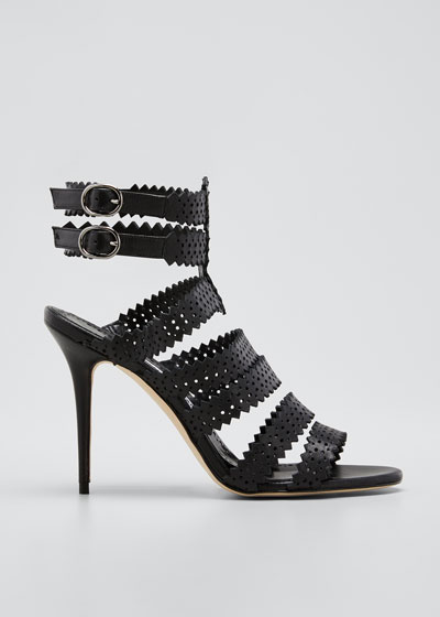 Riesamu Perforated Strappy Sandals