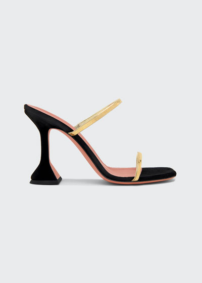 95mm Henson Mixed Leather Sandals