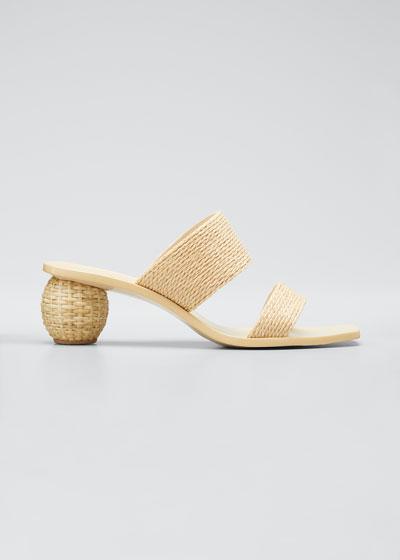 Jila Two-Band Slide Sandals