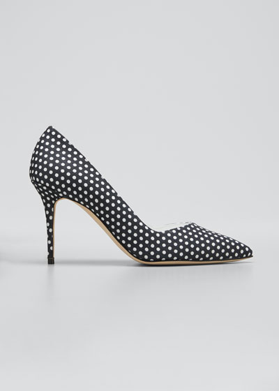 Eris Polka Dot Linen Pumps