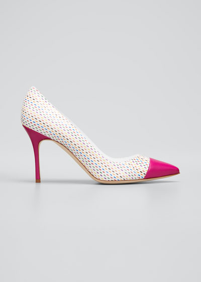 Irene Multicolor Snakeskin Pumps