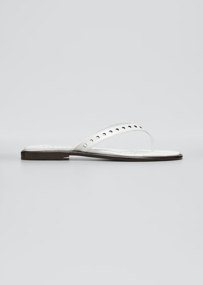 Rena Perforated Thong Sandals