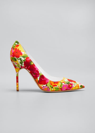 BB 105mm Floral Fabric Pumps