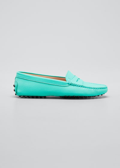Gommini Pebbled Leather Moccasins