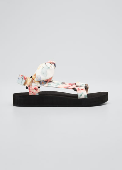 Maisie Floral Bow Sport Sandals