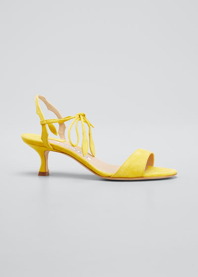 Zouliplain Suede Ankle-Tie Sandals
