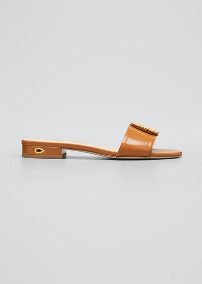 20mm Leather Buckle Slide Sandals