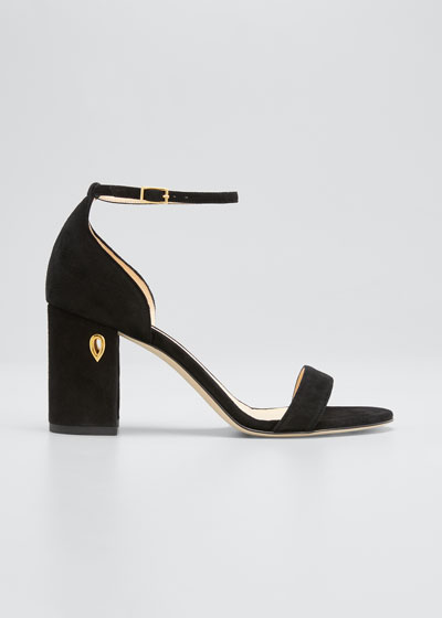 85mm Suede Block-Heel Sandals