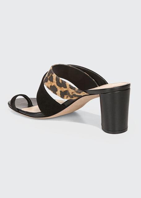 Zuri 65mm Mixed-Media Sandals
