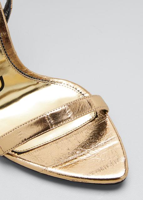 Metallic Eel Padlock & Key Sandals