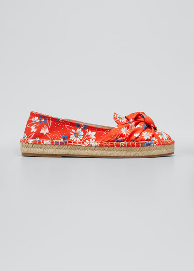 Floral Knot Flat Espadrilles