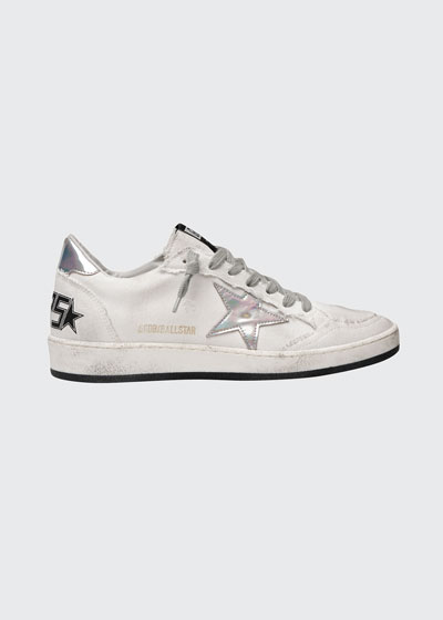 Ball Star Canvas Sneakers with Iridescent Star