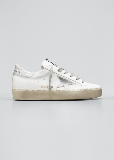 Hi Star Metallic Leather Low-Top Sneakers