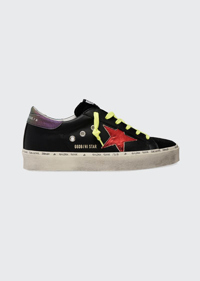 Hi Star Iridescent Leather Low-Top Sneakers