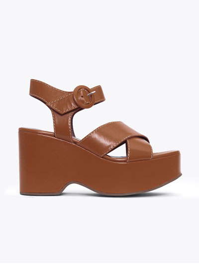 95mm Wedge Sandals With Ankle Strap