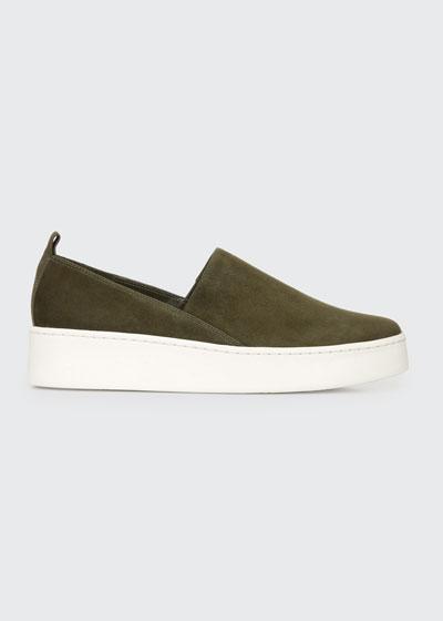 Saxon2 Suede Slip-on Sneakers