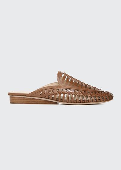 Albani Woven Leather Mules