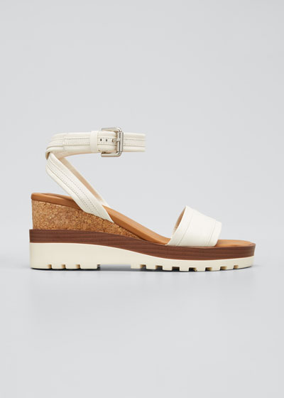 Robin 50mm Cork Ankle Strap Sandals