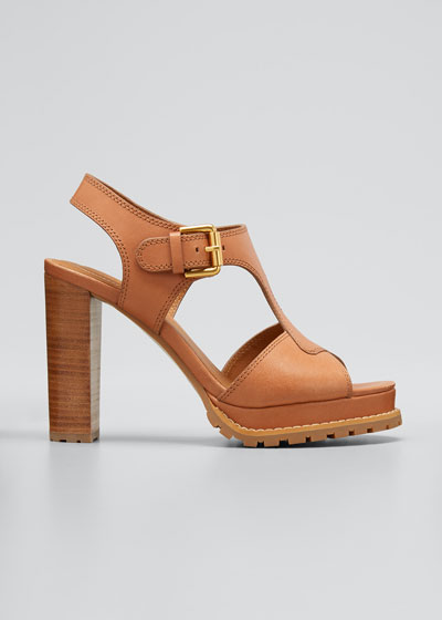 90mm Heeled Open-Toe Sandals