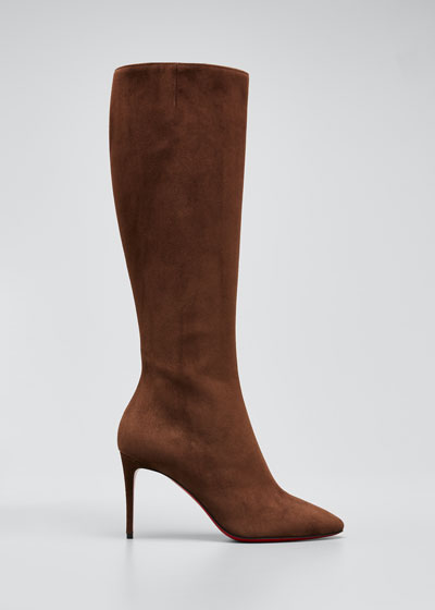 Eloise Suede Tall Red Sole Boots