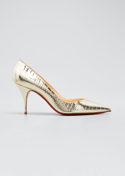 Clare 80mm Metallic Red Sole Pumps
