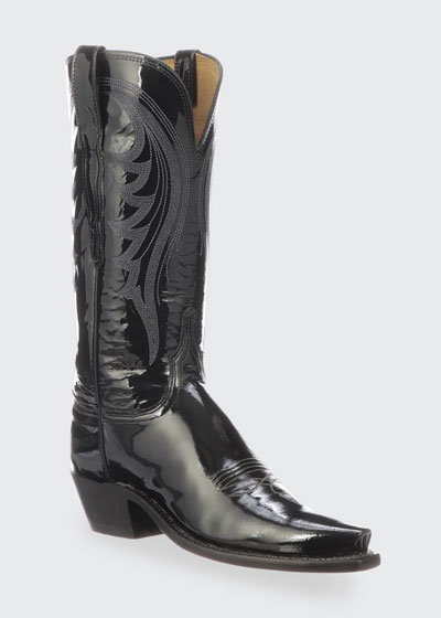 Dee Shiny Western Knee Boots