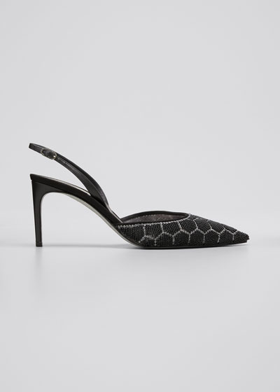 Beaded Hive Cocktail Slingback Pumps