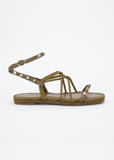 5mm Flatform Rope Gladiator Sandals