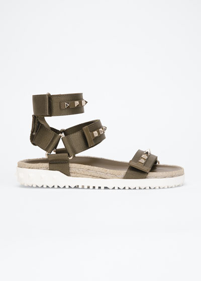 35mm Rockstud Sport Sandals with Removable Strap