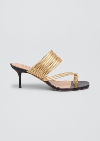 Sunny Mid-Heel Slide Sandals