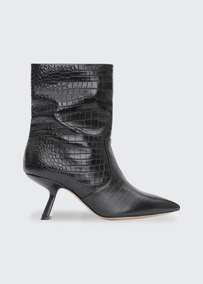 Lexi Mock-Croc Ankle Booties