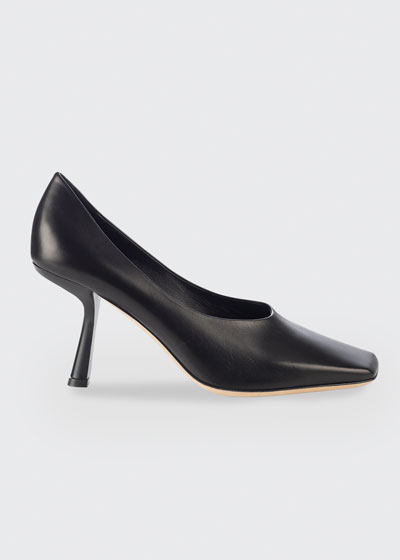 85mm Marcela Square-Toe Pumps