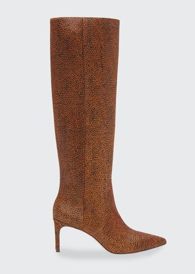 Jett 70mm Cheetah-Print Knee Boots