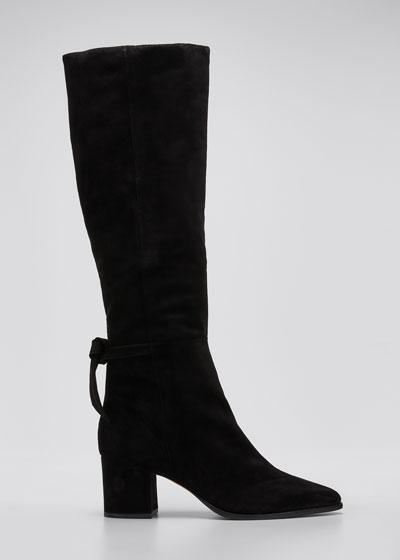 Clarita Suede Knee Boots