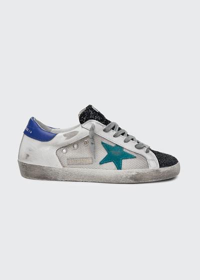 Superstar Glitter Net Low-Top Sneakers