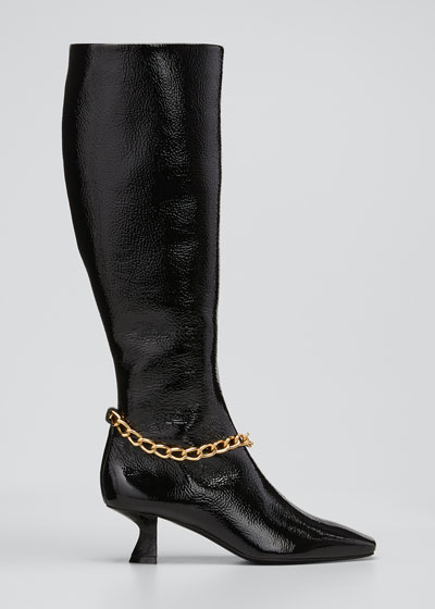 Delphine Tall Chain Leather Boots