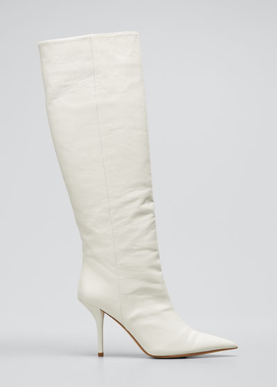 85mm Leather Knee-High Boots