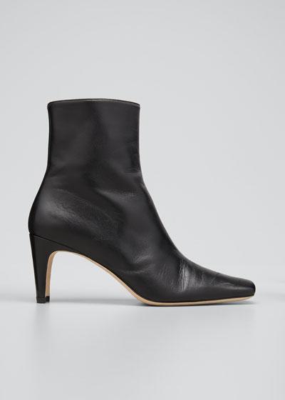 Eva Square-Toe Ankle Booties