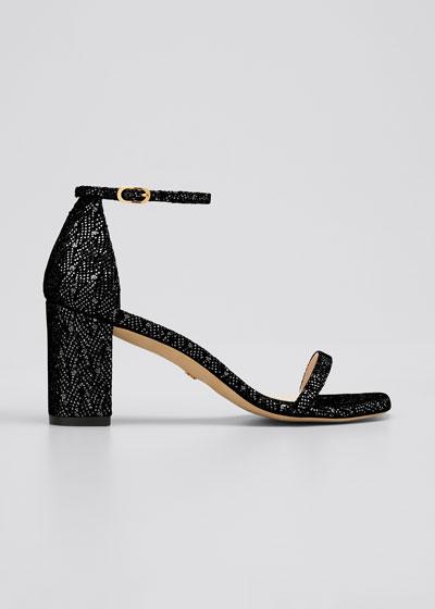 Amelina 75mm Glitter Ankle-Strap Sandals