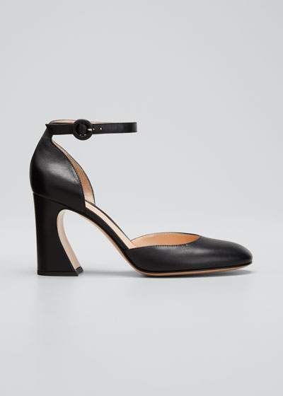 85mm Ankle-Strap Napa Pumps