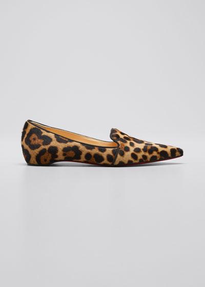 Kashasha Leopard-Print Flat Loafers