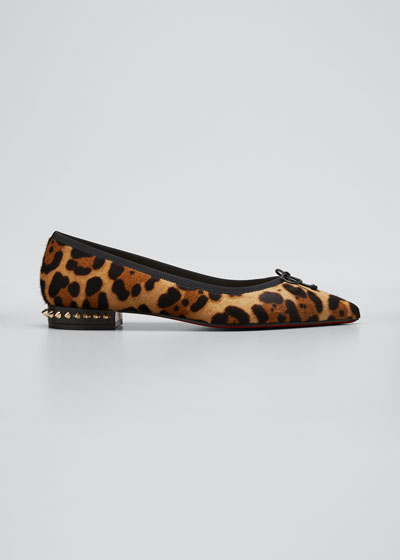Hall Leopard-Print Ballet Flats