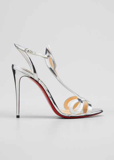 Double L Metallic Red Sole Sandals