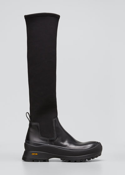 Tall Stretch Rubber Boots