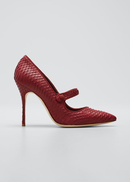 Image 1 of 1: Campari Snakeskin Mary Jane Stiletto Pumps