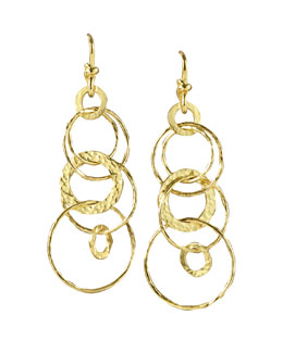 Ippolita Hammered Jet-Set Earrings
