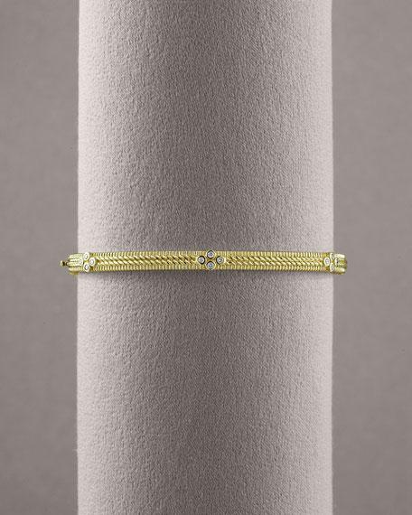 Double Rope Diamond Bangle
