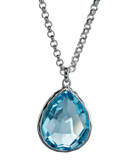 Topaz Pendant Necklace, Medium
